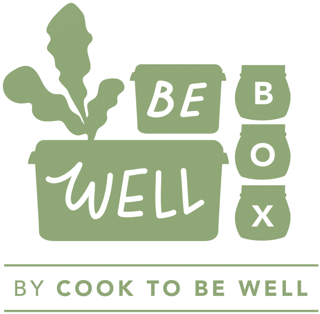 Logo for the Be Well Box by Cook To Be Well